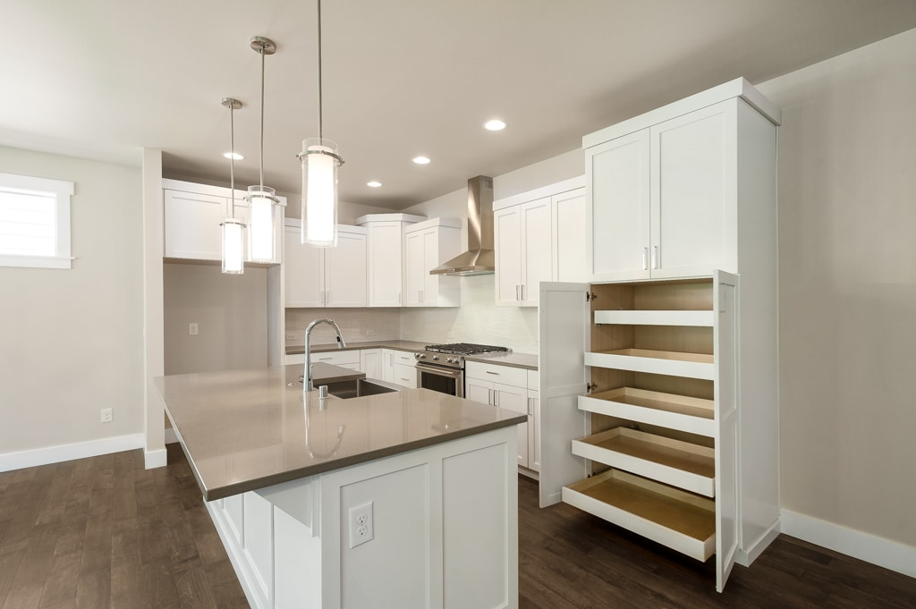 Great extra storage in pantry with roll-out shelves