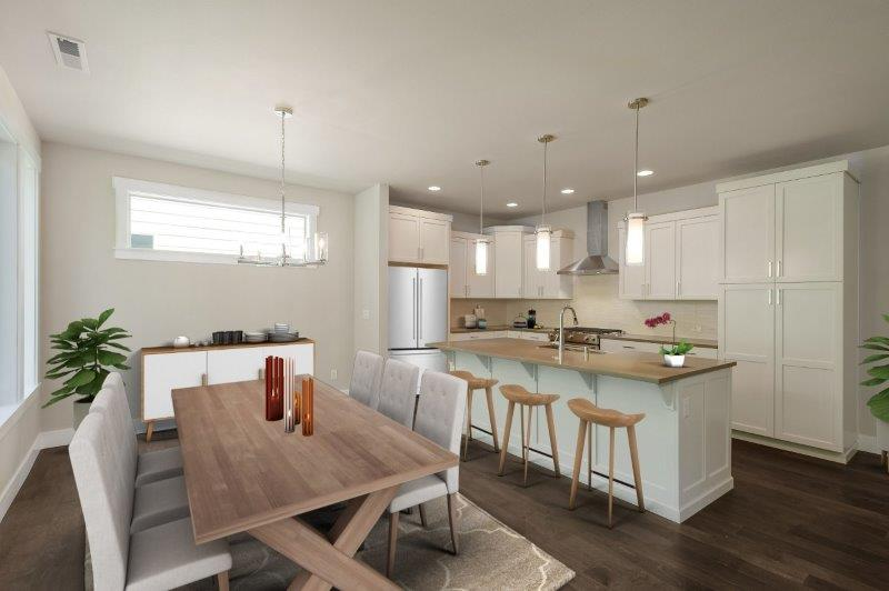 Space for formal dining adjacent to the kitchen