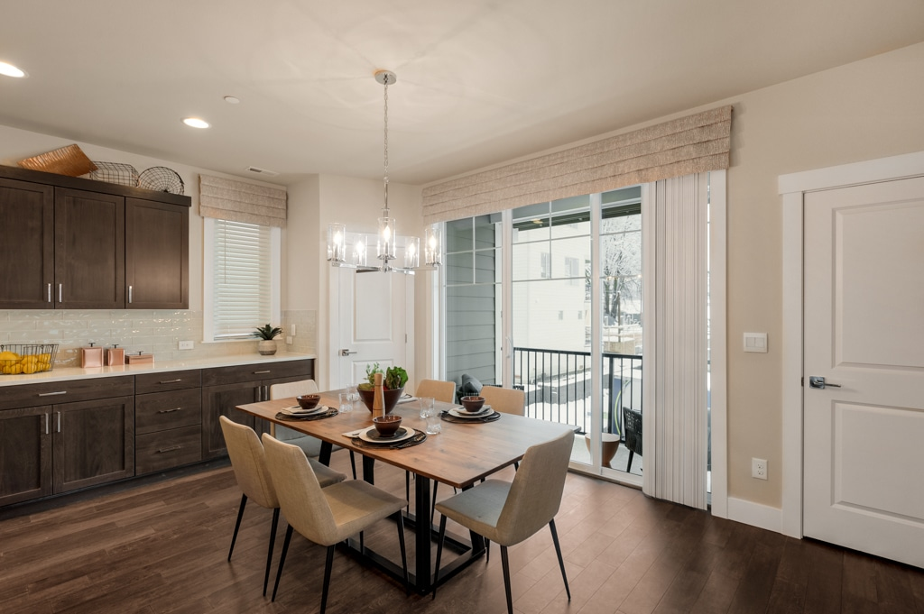 Nice dining space adjacent to kitchen.