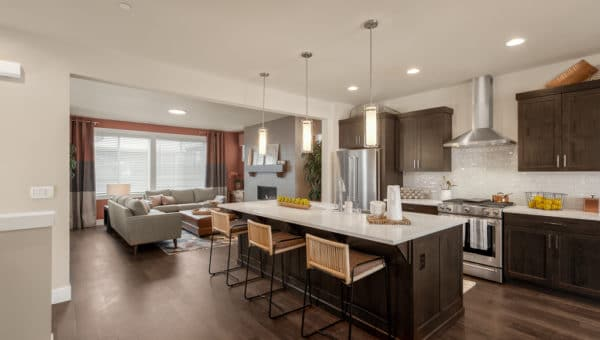 Great room of model home at Stratton Crest in Lynnwood