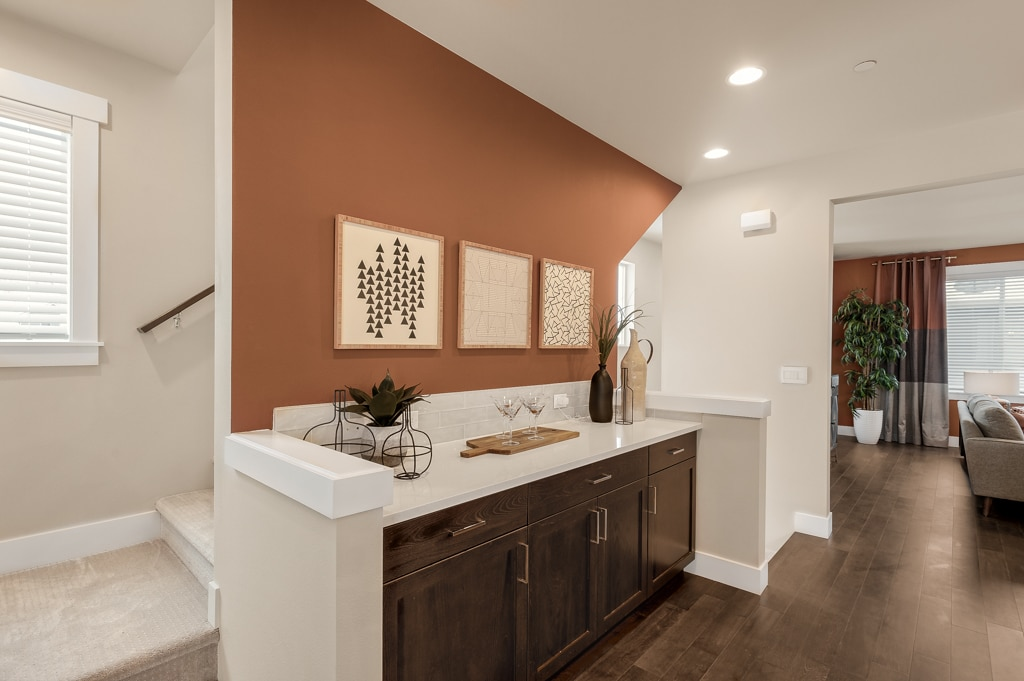 Built-in buffet included in 2431 sq.ft. plan - great extra kitchen storage.