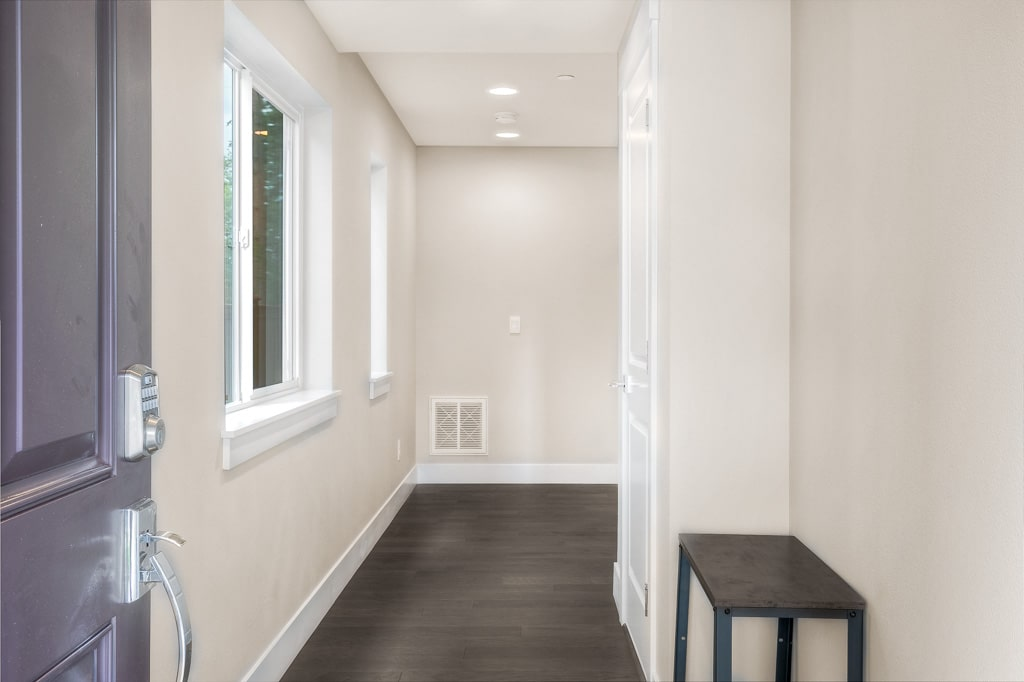 Entryway brightened with natural light