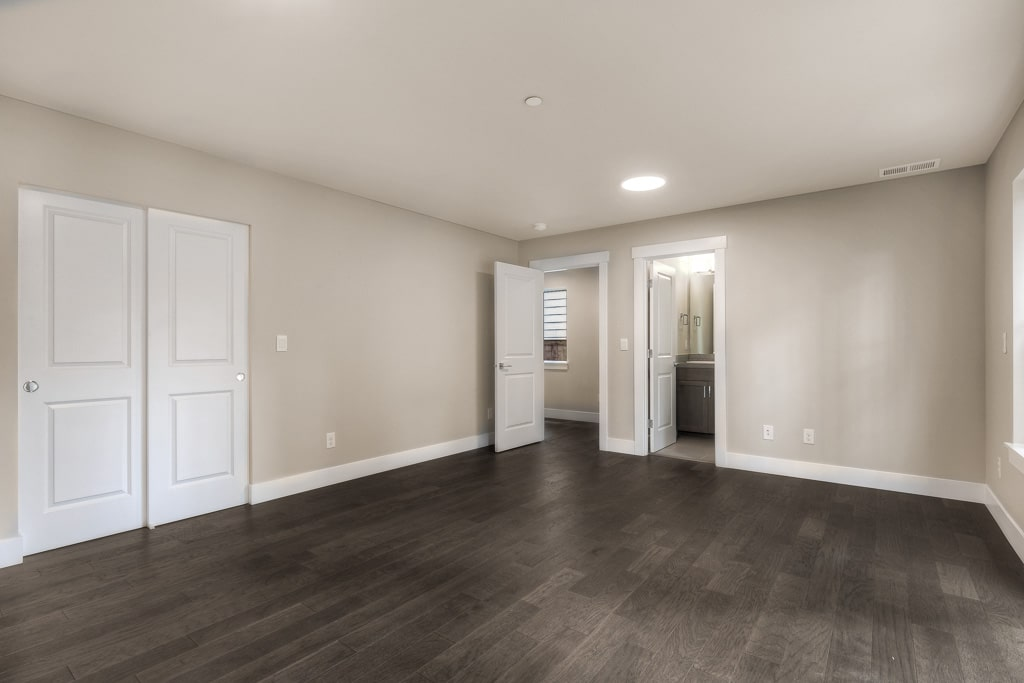 Lower level 4th bedroom has adjacent 3/4 bath - perfect home office?